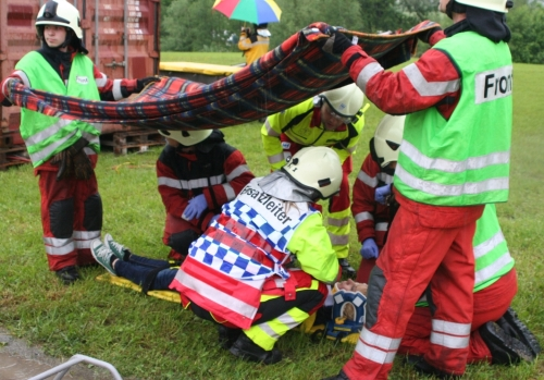 Regio 144 an Rettungsdemonstration bei Grossanlass
