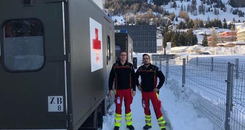 Unterstützung im Sanitätsbereich in Davos