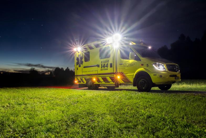 Ein Viertel aller Einsätze der  Regio 144 findet mittlerweile nachts statt.