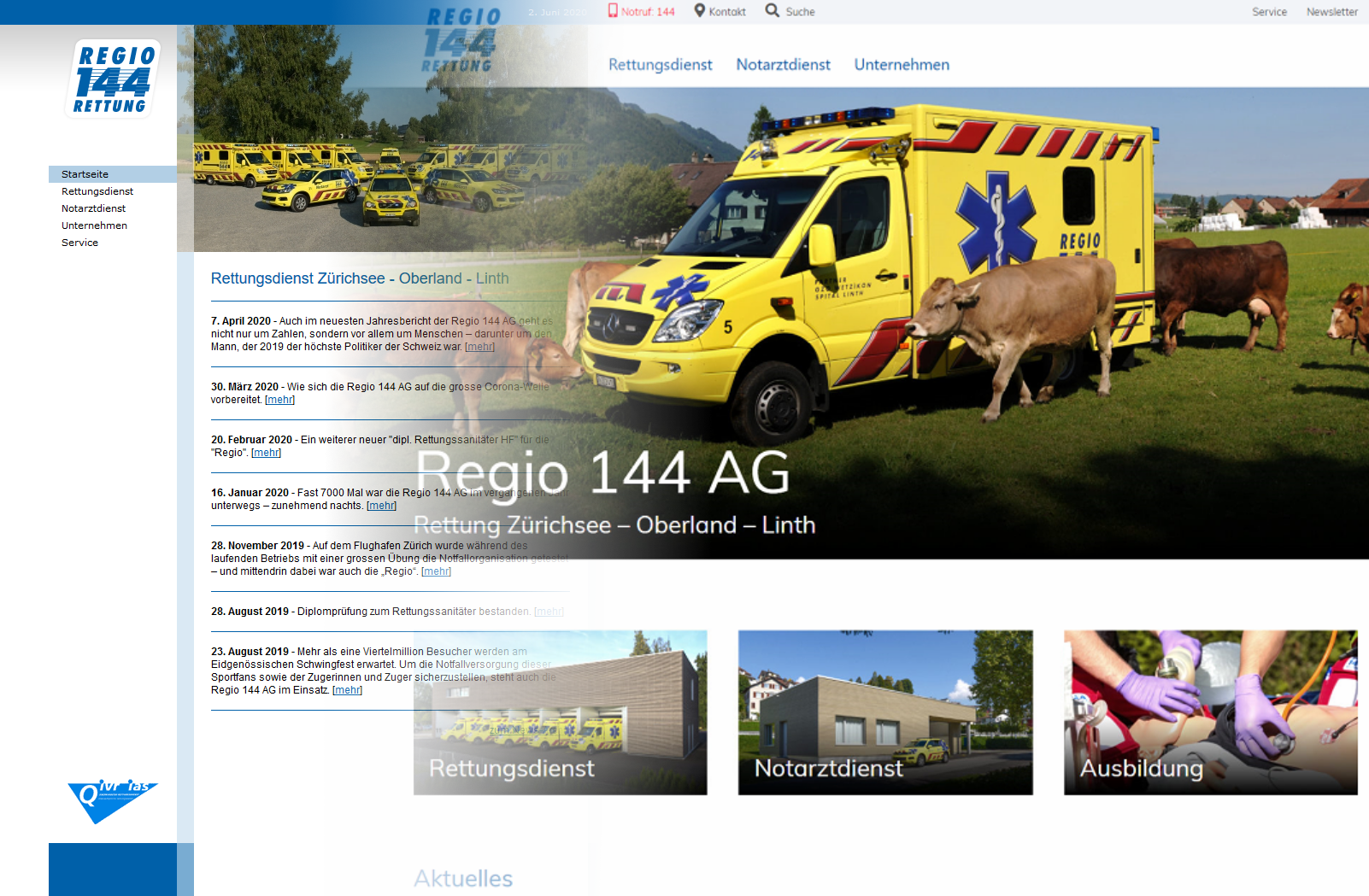 Ein neuer Internet-Auftritt für die Regio 144 AG